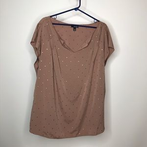 Ana A New Approach Woman Top Size 2X Studded